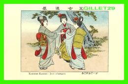 JAPON - JAPONAISES JOUANT KARGOME KAGOME, JEUX D'ENFANTS -  IMP. FRANCISC. MISS, VANVES, SEINE - - Japon