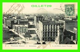 WINNIPEG, MANITOBA - WHOLESALE DISTRICT - TRAVEL IN 1907 - L. J. DE NOBELE IMPORT - - Winnipeg