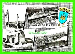 MILITARIA - CHAMPS DE BATAILLES DE VERDUN 1916 ( 55 ) - 5 MULTIVUES - COMBIER IMP. MACON - - Monuments Aux Morts