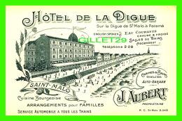 SAINT MALO (35) - HÔTEL DE LA DIGUE - J. AUBERT, PROPRIÉTAIRE - - Saint Malo