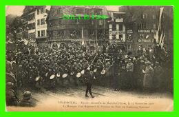 STRASBOURG (67) - ENTRÉE DU MARÉCHAL PÉTAIN, 1918 - MUSIQUE RÉGIMENT DE ZOUAVES AU PONT DU FAUBOURG NATIONAL - BERGERET - Strasbourg
