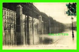 INONDATIONS  DE PARIS, JANVIER 1910 - LE BOULEVARD DE GRENELLE ET LE MÉTRO - LL. - CIRCULÉE - - Inondations