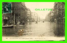 INONDATIONS  DE PARIS, JANVIER 1910 - RUE DE LYON  - LL. - CIRCULÉE - - Inondations
