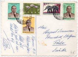 Congo - Leopoldville Vers Suede Sweden - 1963 - J7 - Republic Of Congo (1960-64)