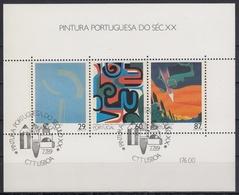 PORTUGAL 1989 HB-68 USADA (1º DIA) - Hojas Bloque