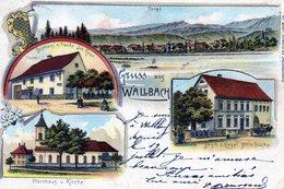 Bade Wurtemberg, Wallbach Litho Quatre Vues, Gasthaus - Allemagne