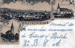 Sarre, Wolfersweiler, Litho Monocouleur Trois Vues - Allemagne
