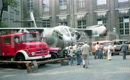 70s MERCEDES BENZ FIRE ENGINE DORNIER PLANE AVION AUSTRIA 35 Mm  ORIGINAL NEGATIVE  Not PHOTO No FOTO - Photography