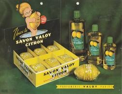 Publicité Savon VALOY / Parfumerie Paris / Eau De Cologne Au Citron - Publicidad