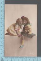Enfants -  Fillettes Assis En Pose, Colorisé, CPA, ED: Suzy 494 - Portraits