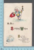 CPA, Salutation My Best Birthday Wishes, Embossé Gaufré , Ed: SAS, 1913, # 503 - Fêtes - Voeux