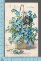 CPA, ED: Raphael Tuck, Valentine Series, # 11, Floral Missive, Embossé, Gaufré - Saint-Valentin
