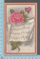 CPA, Rose , Poem, Gold Print, ED: TRG - Saint-Valentin