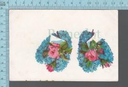 CPA, Deux Bouquets De Fleurs En Forme De Coeurs - Saint-Valentin