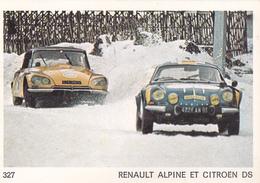 IMAGE 5 X 7,5  Sport Automobile Rallye Des Neiges Et Des Glaces RENAULT ALPINE Et CITROËN DS - Old Paper