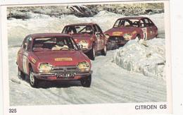 IMAGE 5 X 7,5  Sport Automobile Rallye Des Neiges Et Des Glaces CITROËN GS - Old Paper