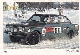 IMAGE 5 X 7,5  Sport Automobile Rallye Des Neiges Et Des Glaces VOLVO 144 - Old Paper