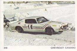 IMAGE 5 X 7,5  Sport Automobile Rallye Des Neiges Et Des Glaces CHEVROLET CAMARO - Old Paper