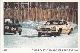 IMAGE 5 X 7,5  Sport Automobile Rallye Des Neiges Et Des Glaces CHEVROLET CAMARO Et PEUGEOT 304 - Old Paper