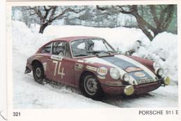 IMAGE 5 X 7,5  Sport Automobile Rallye Des Neiges Et Des Glaces PORSCHE 911 E - Old Paper