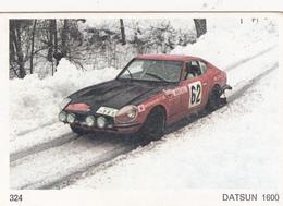 IMAGE 5 X 7,5  Sport Automobile Rallye Des Neiges Et Des Glaces DATSUN 1600 - Vieux Papiers