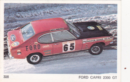 IMAGE 5 X 7,5  Sport Automobile Rallye Des Neiges Et Des Glaces FORD CAPRI 2300 GT - Old Paper