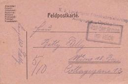 """Feldpostkorrespondenzkarte - K.k. Landsturm Eisenbahnsicherungs Kompagnie """"Opcina"""" - 1917 (36061) - Briefe U. Dokumente"""