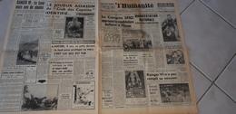 L HUMANITE FEVRIER  1964 LA LUNE MAIS PAS DE PHOTOS. RANGER 6 N A PAS REMPLI SA MISSION - Journaux - Quotidiens