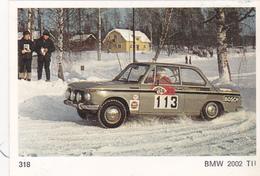 IMAGE 5 X 7,5  Sport Automobile Rallye Des Neiges Et Des Glaces BMW 2002 T II - Old Paper