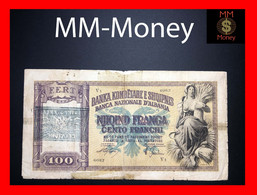 Albania  100 Franga 1945 P. 14  VF - Albanie