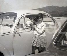 60s VW VOLKSWAGEN BEETLE CAROCHA PORTUGAL 35 Mm  ORIGINAL NEGATIVE  Not PHOTO No FOTO - Photography
