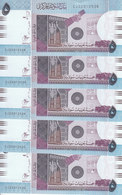 SUDAN 5 POUNDS March 2017 P-72 REPLACEMENT CJ LOT X5 UNC NOTES */* - Sudan
