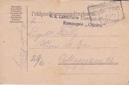 Feldpostkarte - K.k. Landsturm Eisenbahnsicherungs Kompagnie Opcina - 1917 (36064) - Covers & Documents