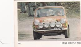 IMAGE 5 X 7,5  Sport Automobile Voiture De Rallye Sport Mécanique MINI COOPER 1000 - Vieux Papiers
