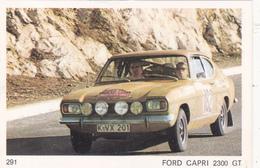 IMAGE 5 X 7,5  Sport Automobile Voiture De Rallye Sport Mécanique FORD CAPRI 2300 GT - Old Paper