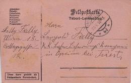 Feldpostkarte - Wien Nach K.k. Eisenbahn Sicherungs Kompagnie Opina Bei Triest - 1916 (36066) - Briefe U. Dokumente