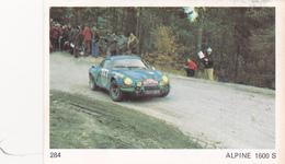 IMAGE 5 X 7,5  Sport Automobile Voiture De Rallye Sport Mécanique ALPINE 1600 S - Old Paper