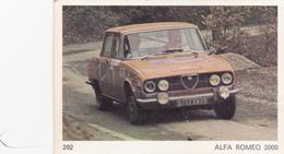 IMAGE 5 X 7,5  Sport Automobile Voiture De Rallye Sport Mécanique ALFA ROMEO 2000 - Old Paper