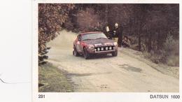 IMAGE 5 X 7,5  Sport Automobile Voiture De Rallye Sport Mécanique DATSUN 1600 - Old Paper