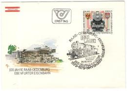 AUSTRIA - ÖSTERREICH - AUTRICHE - 1979 - S2,5 100 Jahre Raab-Oedenburg - Ebenfurter Eisenbahn - Neufeld An Der Leitha - - FDC