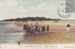 44 SAINT BREVIN  CPA Colorisée Animation Sur La PLAGE ENFANTS  à Marée BASSE Timbre 1921 - Saint-Brevin-l'Océan