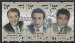 EGYPT , 2016, MNH, CINEMA, ACTORS,3v - Cinema