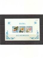 Bloc 1588/90** Faune - Flore - Fleurs - Ecuador