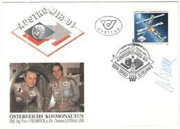 AUSTRIA - ÖSTERREICH - AUTRICHE - 1991 - Austro-Mir - Wien - FDC - Signed - Autografo - FDC
