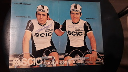 Les Freres Baronchelli GB Et G. SCIC Grand Format 20,5 X 28,5 Cm Autographes Manuscrits - Cycling