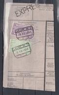 Fragment Met Stempel Lauwe Expres - Chemins De Fer