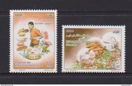 ALGERIA , 2017, MNH, FOOD, FOOD POISONING, FOOD WASTAGE, 2v - Food