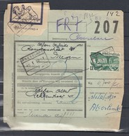 Fragment Met Stempel Lauwe Met Dieren Etiket - Chemins De Fer