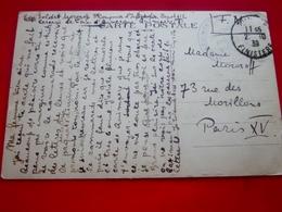 WW2- Militaire 34é CIE-d'infant. Dépôt 112 Caserne La Tour D'Auvergne Quimper Marcophilie Lettre En FM Guerre De 1939-45 - Marcofilia (sobres)