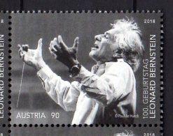 2018 Austria - 100 Years Of Leonard Bernstein Birthday - Famous Conductor - MNH** MiNr. 3418 (rg) - 1945-.... 2ème République